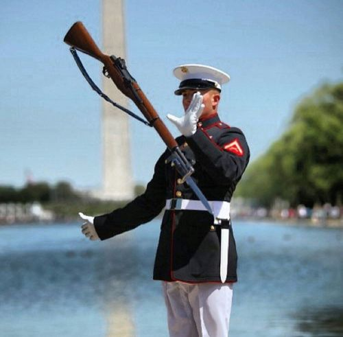 U.S Marine Corp silent dril parade USA Us Military USMC Parade