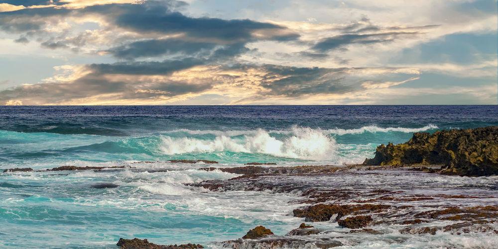 North shore high tide oahu hawaii