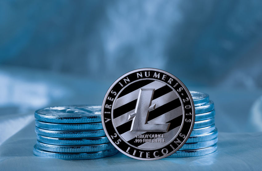 Litecoin coin to illustrate one of the variants of blockchain currencies like Bitcoin Currency Bitcoin Bits Blockchain Coin Cyberspace Exchange Litecoin Money Silver  Value