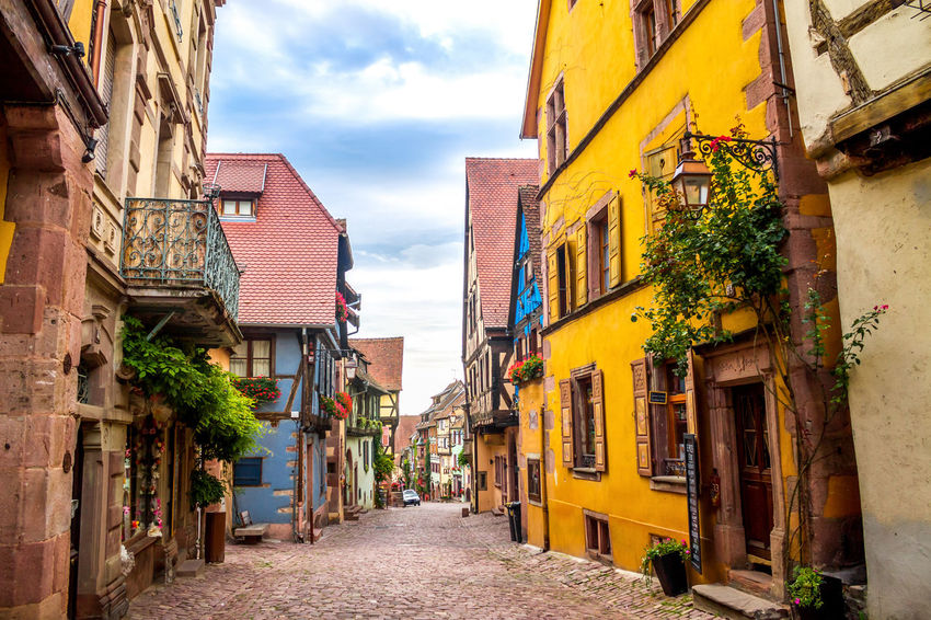 Riquwihr Alsace Alsace France Architecture City Hall France Houses Riquwihr Architecture Building Exterior Built Structure Day No People Outdoors Region Sky Village Wine