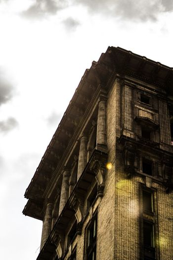 Detroit Michigan Central Station Sunflare Abandoned