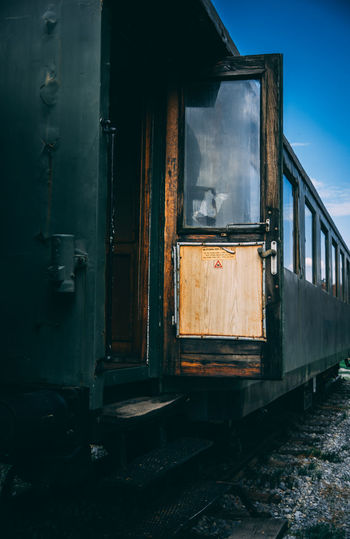 Abandoned Architecture Built Structure Damaged Day Decline Deterioration Door Kerber Mode Of Transportation Nature No People Obsolete Old Outdoors Rail Transportation Railroad Car Run-down Train Train - Vehicle Transportation Window