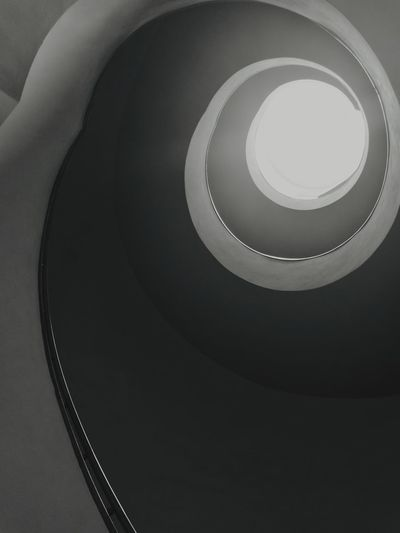 Spiral Stairs Spiral Staircase Railing Spiral Steps Steps And Staircases Staircase Black And White Photography No People Vertigo II