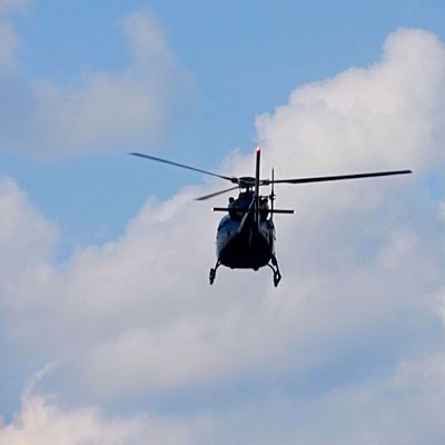 Bye bye 👋🏻 Mode Of Transportation Cloud - Sky Helicopter Flying Air Vehicle on the move Mid-air Low Angle View