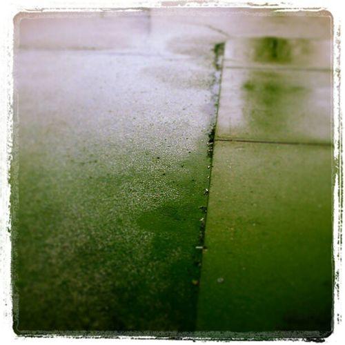 I like watchin' the puddles gather rain