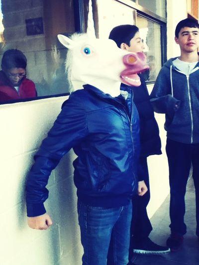 Unicorn Head Unicorn Weirdo At School