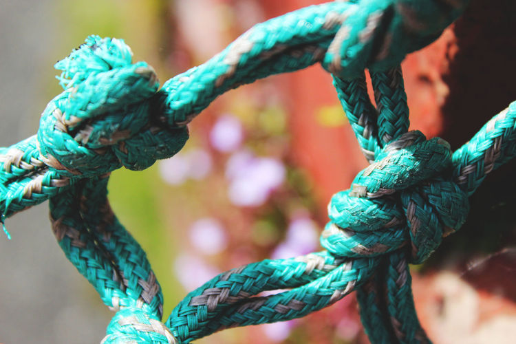 Close-up of tied rope