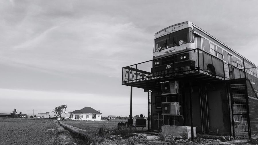 A vintage bus