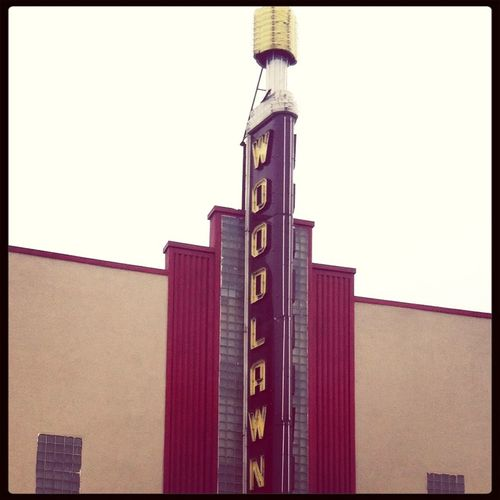Woodlawn theatre. Deco district. Vintage Déco Theater