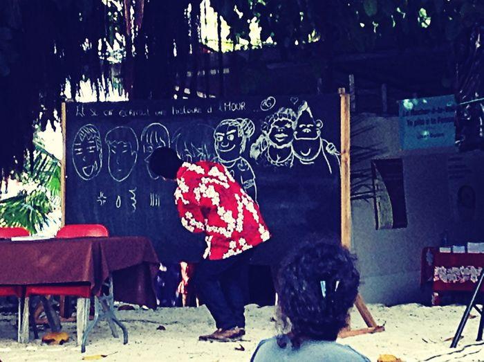 Mangatime Tahitian Caracters Drawing