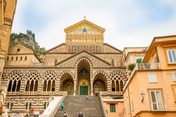 Italy Amalfi  Amalfi Coast Built Structure Building Exterior Architecture Building Sky Low Angle View Religion Place Of Worship Day Arch No People Belief Façade Spirituality Nature Window Travel Destinations Outdoors Ornate Spire