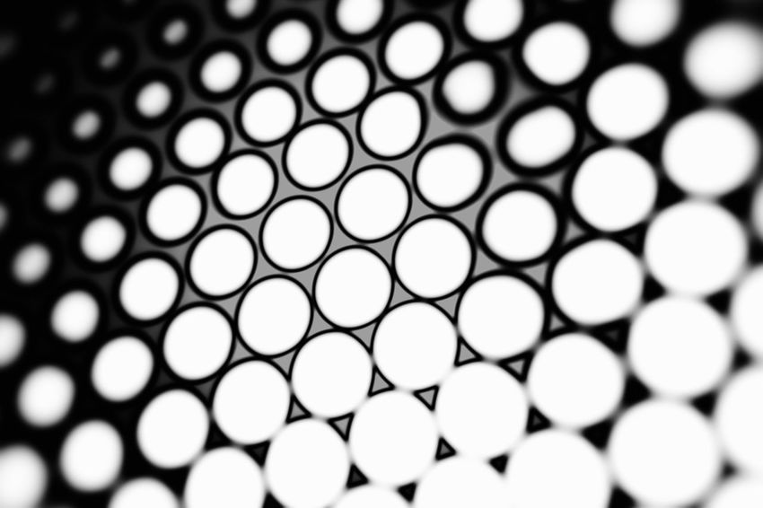 Black and white honeycomb background with blur effect Business Futuristic Grid Logistics Service Modern Processor Service Shape Bitcoin Blockchain Cell Coin Concept Crypto Crystal Cell Design Digital Geometric Hexagon Ico Logistic Mining Steel Structure Token