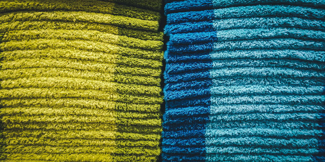 Full frame shot of multi colored doormats