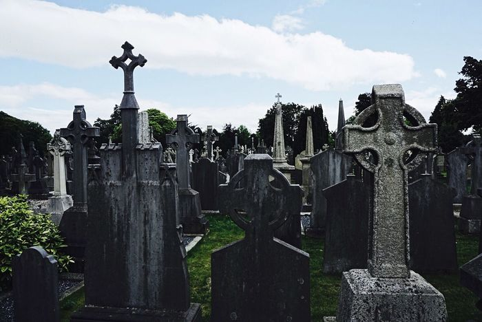 Dublin cemetery Tombstone Cross graveyard Religion Outdoors History Ireland Travel Spirituality