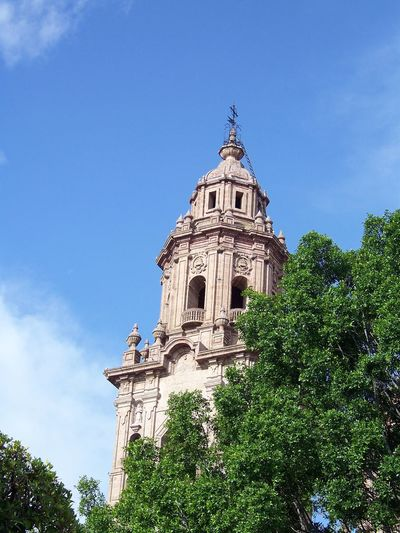 Cathedral Catholic Church City Ignacio Ignacio Chávez Morelia Architecture Bell Tower Blue Building Exterior Built Structure Day Dome History Low Angle View Nature No People Outdoors Place Of Worship Religion Religious  Sky Spirituality Tree