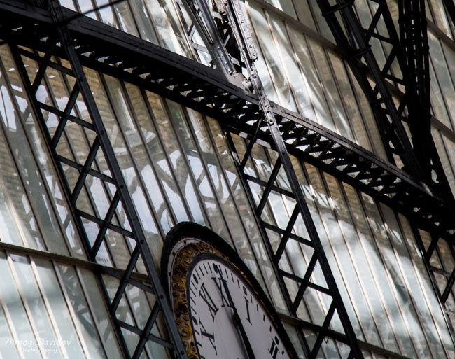Cropped image of clock on wall