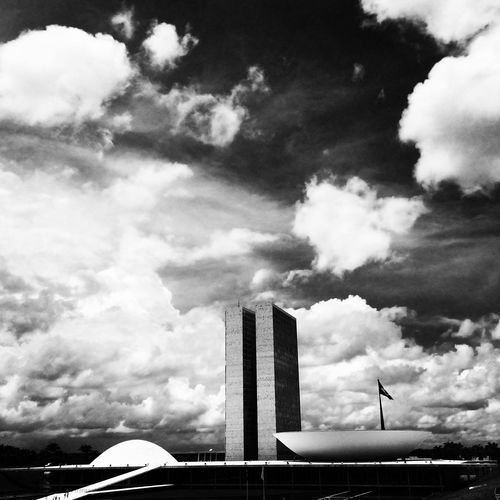 Life on mars Architecture Sky Blackandwhite Brasil Brasília OscarNiemeyer Congressonacional