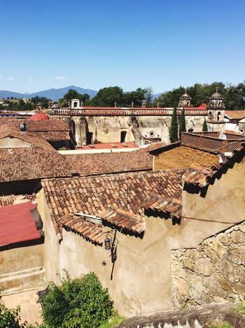 The City Light Architecture Built Structure Building Exterior Clear Sky House Roof Day Blue Tiled Roof  Tree Outdoors No People Sky Mexico Patzcuaro Live For The Story Connected By Travel Connected By Travel Be. Ready.