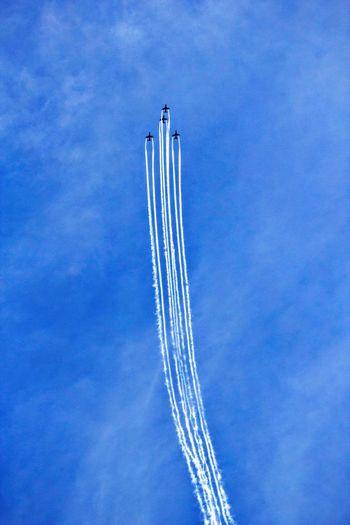 Up Midnighthawks Jet Airplane Blue Sky Sky Suomi Finland