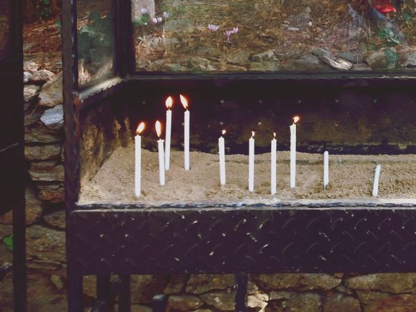 Praying Wishing Candles House Of The Virgin Mary Izmir . Visiting Holy Religious  Places EyeEmTurkey
