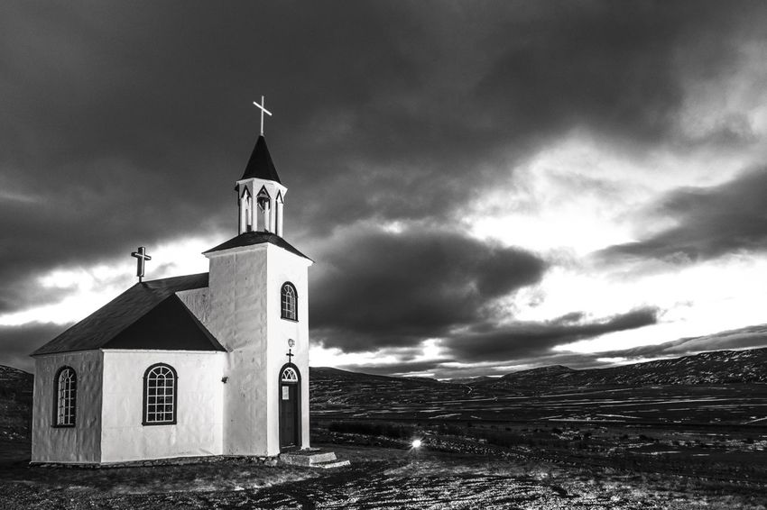 Silfrastaðakirkja (1896), near Akrahreppur, Norðurland, Iceland - 29.11.2016 Akrahreppur Church Iceland Island Kostel Nordurland Silfrastaðakirkja
