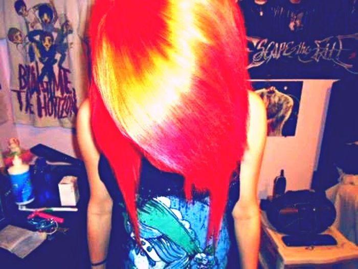 Punk Emo Hair Colorful
