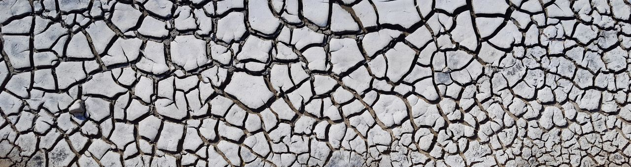 Backgrounds Full Frame Textured  Pattern Cracked Close-up Rough Drought Arid Climate Global Warming Bad Condition Salt Basin Barren