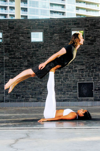 Couple in perfect balance