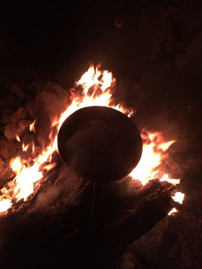 Burning Fire - Natural Phenomenon Heat - Temperature Flame Night Fire Nature
