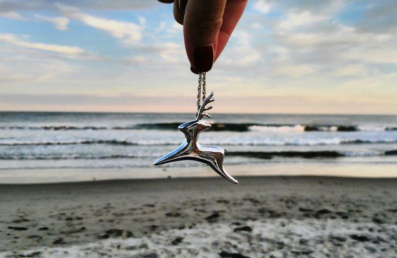 EyeEm Selects Sunset Beach Sand Outdoors Nature Sky Ocean Deer USA Mood