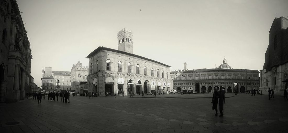 Bologna Piazza Grande Black And White Relaxing Taking Photos Enjoying Life All Around You EyeEm Italy EyeEm Gallery B/w B/W Photography Panoramic