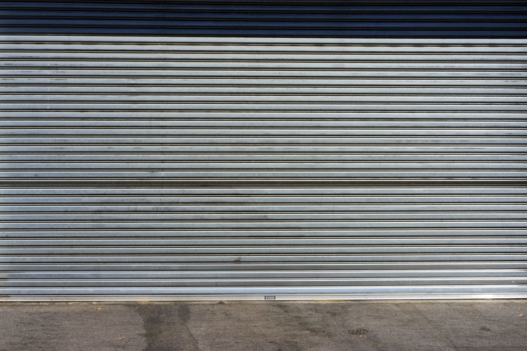 Backgrounds Close-up Corrugated Iron Day Industry Metal No People Outdoors Pattern Shutter Silver - Metal Silver Colored Steel Textured
