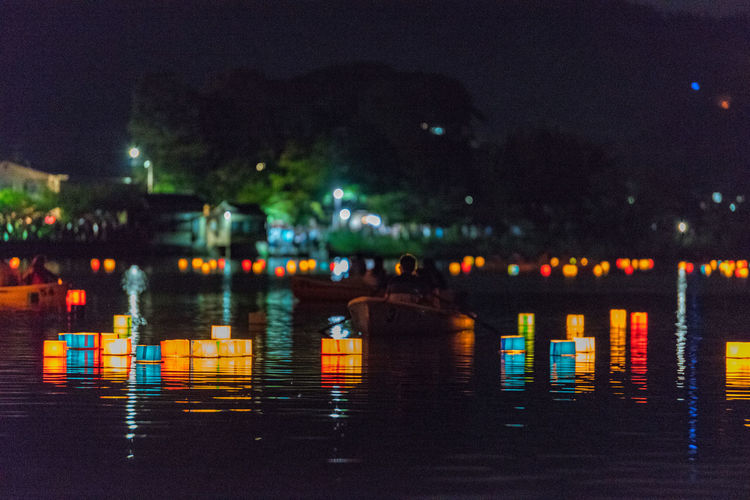 8月16日 Hirosawaike Illuminated Kyoto Night Summer お盆 万灯流し
