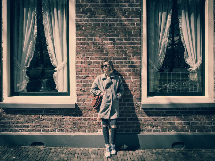 Berit Troost Brick Wall Day Fashion Lifestyles Outdoors Window Women Young Women Uniqueness Fresh On Eyeem