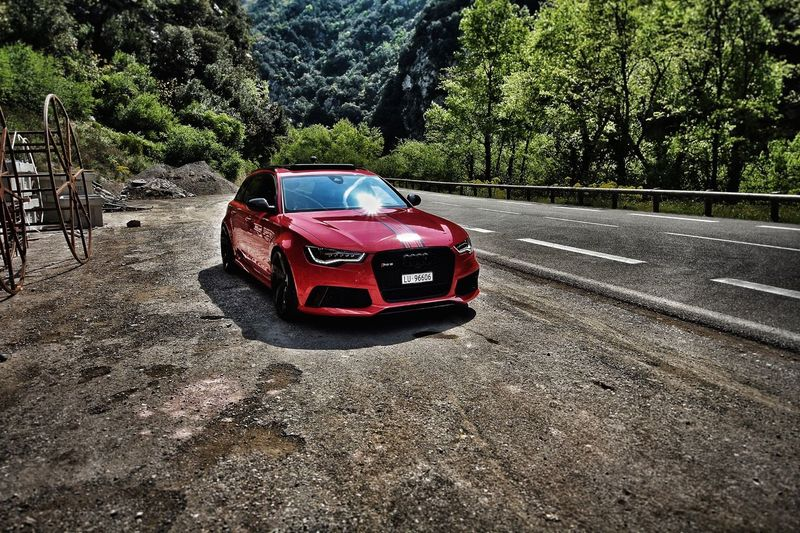 Car Transportation Tree Red Land Vehicle Day No People Road Outdoors Nature Audic7 Audirs6 Runformonaco AudiFansSchweiz
