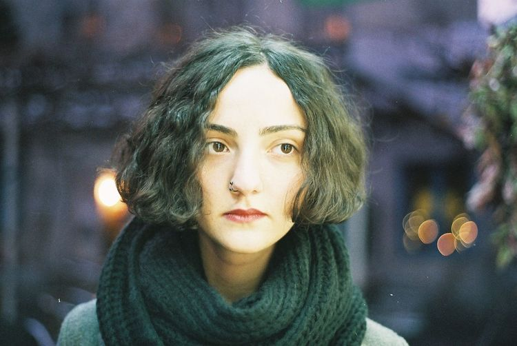 Analogue Photography Film Filmisnotdead Portrait One Person Real People Looking At Camera Beautiful Woman Young Women Women Hair Adult Outdoors Winter Scarf A New Perspective On Life