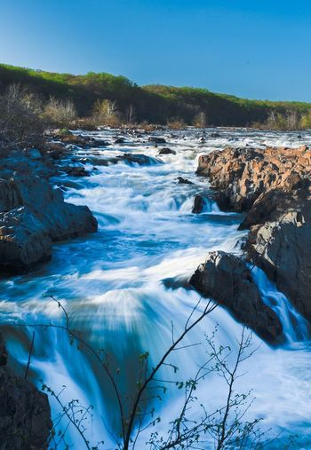 Landscape Blue Nature Beauty In Nature Scenics No People Water Waterfall Nikond750 Potomac River Long Exposure