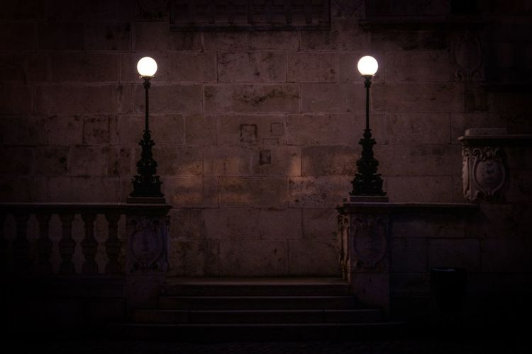 Guidance required Hungary Budapest Illuminated Lighting Equipment No People Architecture Built Structure Street Light Night Outdoors Staircase Electricity  Electric Lamp