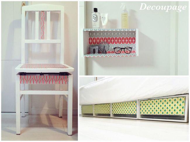 Decoupage Interior Design Interior Decorating DIY Chair Bedroom White