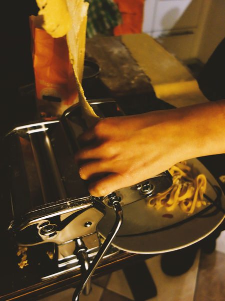 Cooking Cuisine Noodles Close-up Food Food And Drink Food Preparation Foodporn Holding Human Body Part Human Hand Indoors  Italian Style kitchen utensils Lifestyles One Person Pasta Pasta Machine Pasta Time People Preparation  Real People Skill  Utility Working