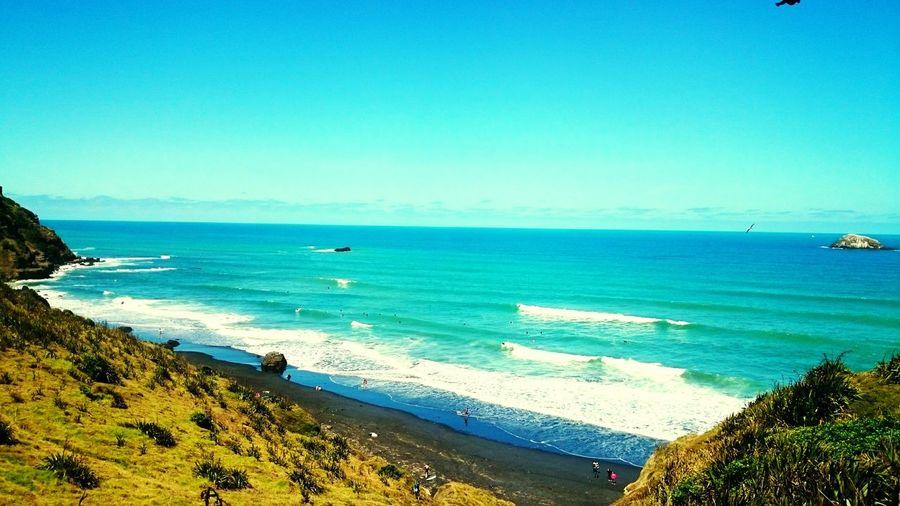 Muriwai Muriwaibeach Sun Beach Surf Newzealand Kiwisummer