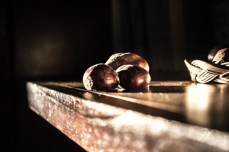 Nuts on table