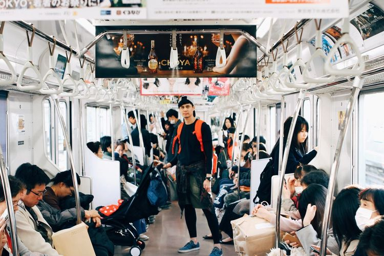 Indoors  Adult Retail  Men Adults Only Portrait People Working Day Train Station Tokyo,Japan