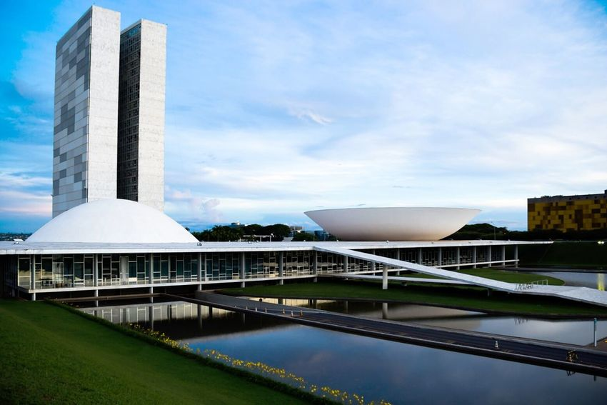 The National Congress - Brasília, Brazil Brasília Brazil Architecture Photography Canon Photolovers Check This Out Photo No People Photooftheday Congressonacional Fotografia Foto Arquitetura