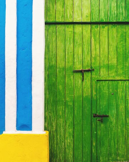 EyeEm Selects Colors Green Color Wood - Material Built Structure Architecture Full Frame No People Door
