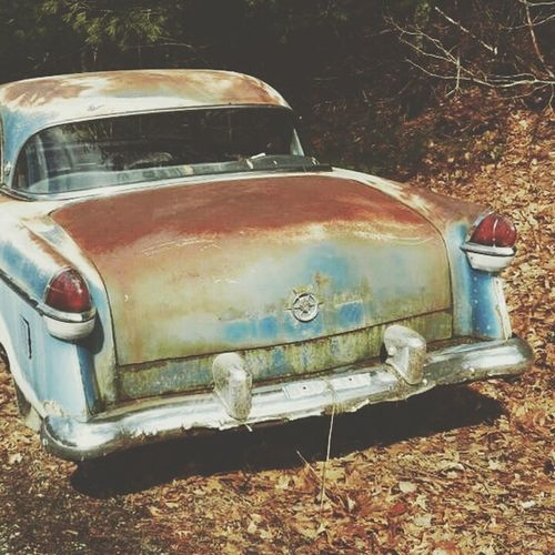 Wreck American Oldies Rusted Rusted Metal  American Cars