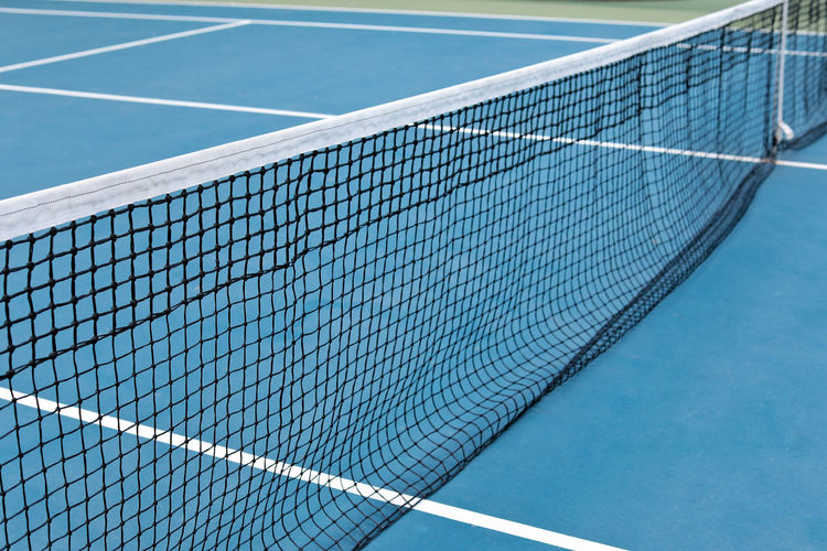 Tennis net in court