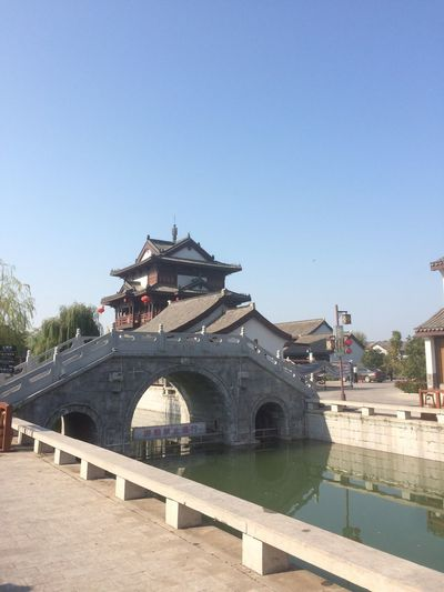 Architecture Built Structure Day Clear Sky Building Exterior Religion Water No People Outdoors Travel Destinations Blue China Temple River Sun Zen Spirituality EyeEm Selects EyeEmNewHere Landscape