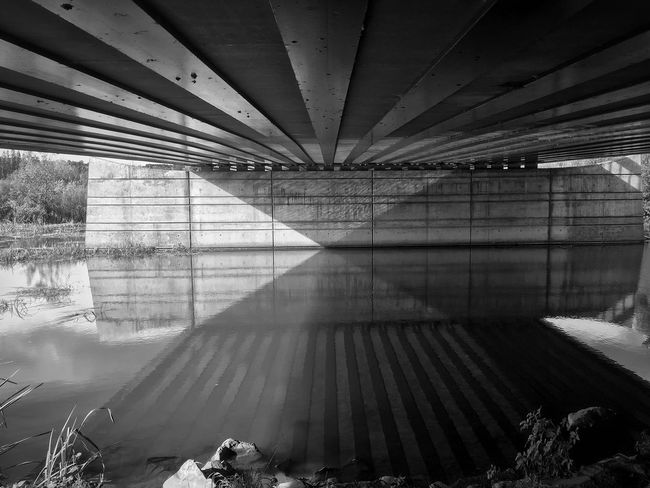 Bridge - Man Made Structure Architecture Connection Reflection Underneath Built Structure No People Day Transportation Water Outdoors Nature