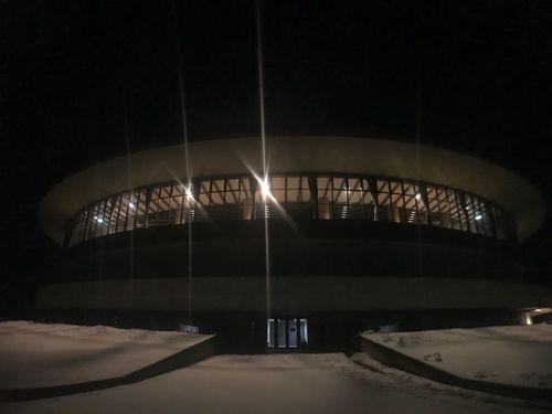 夜の体育館 Hosumi 体育館 Night Illuminated Indoors  No People Cold Temperature Architecture Modern